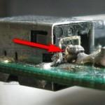 قطع اتصال سوکت شارژر لپ تاپ