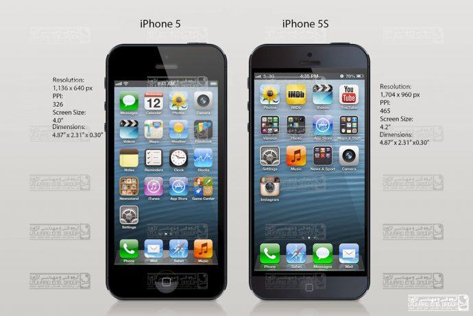 تفاوت های آیفون 5 و آیفون 5s