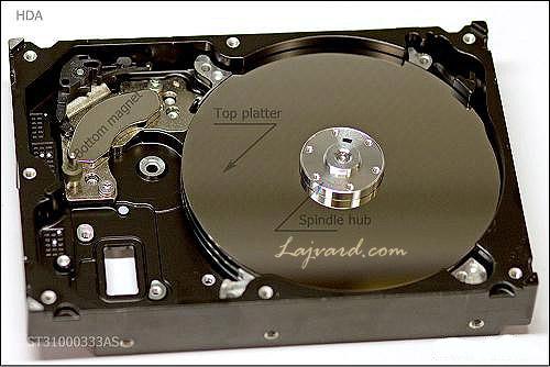 بخش داخل هارد دیسک HDA