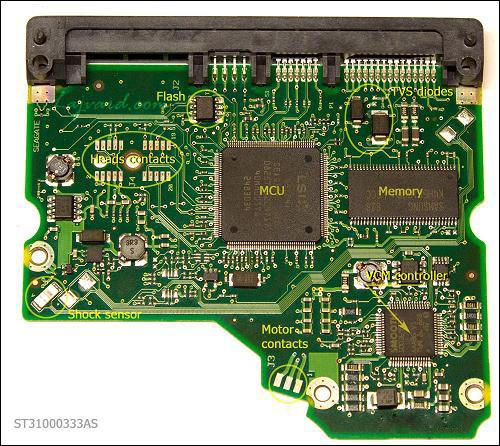 برد الکترونیک هارد دیسک PCB