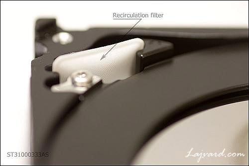 فیلتر گردش هوای داخل هارد دیسک