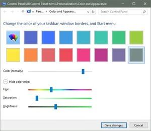 آموزش شخصی ساز رنگ ها در ویندوز 10