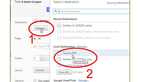 ذخیره کردن صفحات وب به صورت PDF در کروم