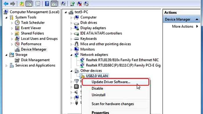 حل مشکل USB device not recognized و راههای نصب درایور وسایل USB